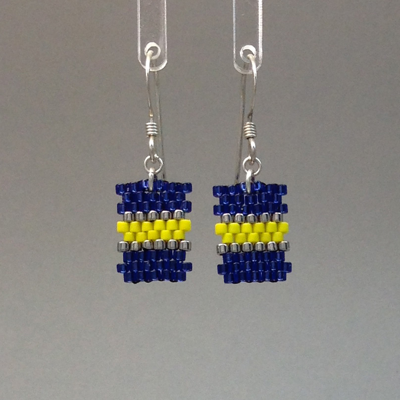 Earring/Blue/Yellow