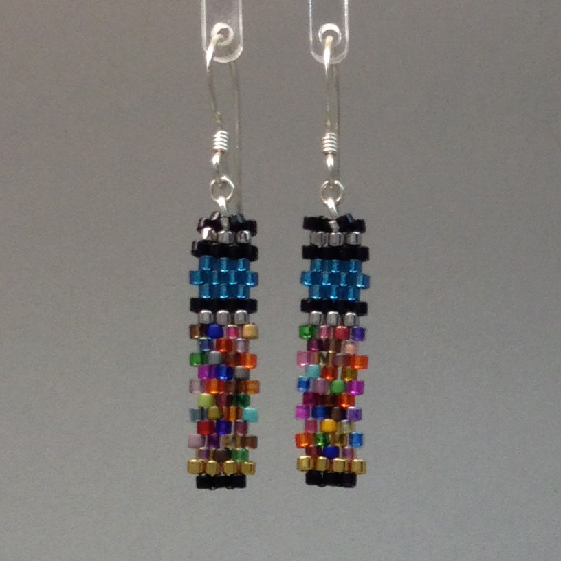 Colorblock Teal Earring